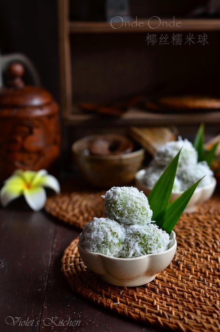 Violet's Kitchen ~♥紫羅蘭的爱心厨房♥~ : 椰丝糯米球 Onde Onde