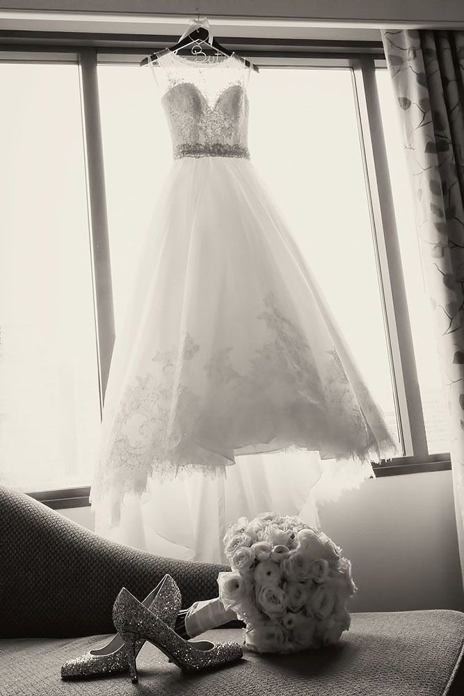 Must Take Photos Of Your Wedding Dress ❤ See more: http://www.weddingforward.com/must-take-photos-wedding-dress/ #weddings