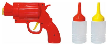 The condiment gun... eclectic serveware by Gadgets and Gear as seen on houzz