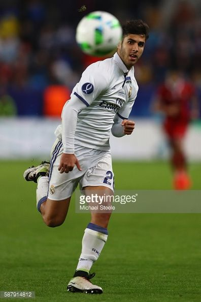 News Photo : Marco Asensio of Real Madrid during the UEFA...