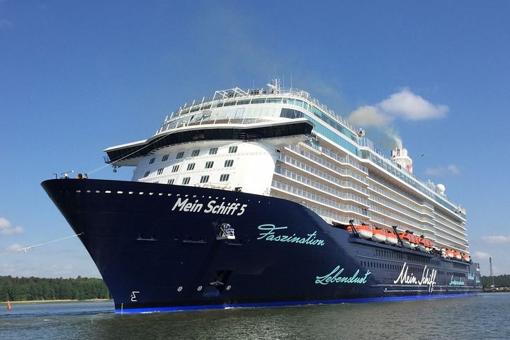MEIN SCHIFF 5. Ιδιοκτησία: TUI Cruises Gmbh. - Germany. (Beneficial owner: TUI AG). Διαχείρηση: TUI Cruises - Germany. (Joint venture between Royal Caribbean Cruises Ltd 50% & TUI AG. 50%). Παρθενικό ταξίδι στις 16/07/2016. 99.526 GT. ~ 293,20 μ.μ. ~ 35,8 μ.πλάτος ~ 12 κατ/τα ~ 21,7 knots ~ 2.794 επ. ~ 1.000 ατ.πλ.
