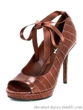 The Fatale 95 Brown Leather Pumps from Yves Saint Laurent