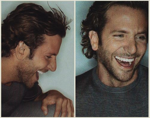 Bradley Coopers amazing smile.