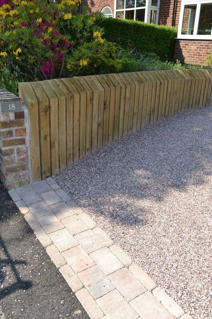 Retaining wall and Stabilised Gravel driveway in Altrincham, Cheshire.