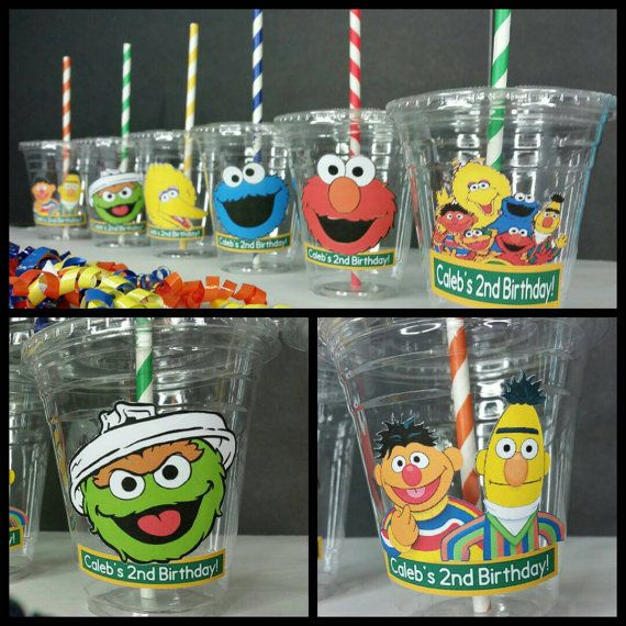 Check out this item in my Etsy shop https://www.etsy.com/listing/478795088/12-sesame-street-themed-party-cups-with