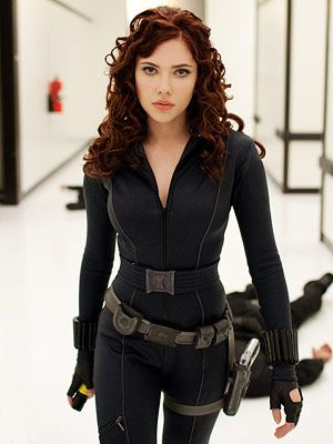 Black Widow-Natasha Romanoff...prefer movie costumes usually...so much skin in the comics, some ain't even practical :P