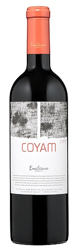 Coyam 2009 - The heaviest bottle of wine you will ever hold. It also tastes amazing.
