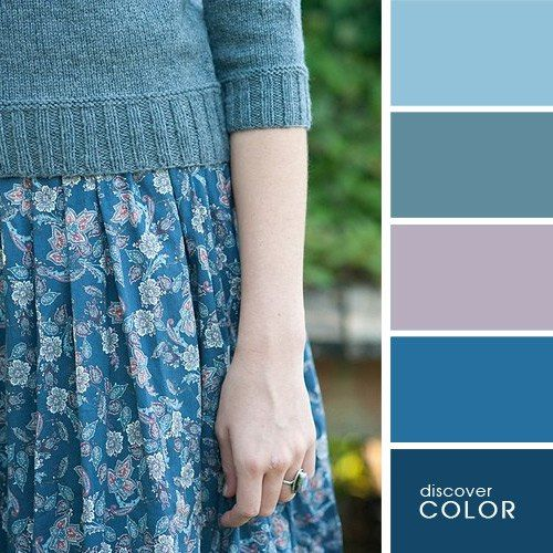 Fashion color idea | Colors combination | Wheel | Blue | All types