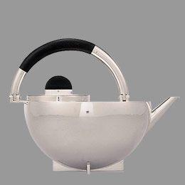 Part of a tea set designed by Marianne Brandt.