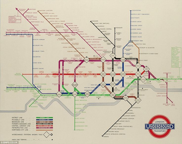 Getting there: Harry Beck's maps were a revolution after he came up with the diagrammatic representation that is used as today's model. The above was produced in 1937