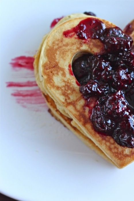 Clementine Cornmeal Pancakes with Maple Blackberry Compote | Recipe
