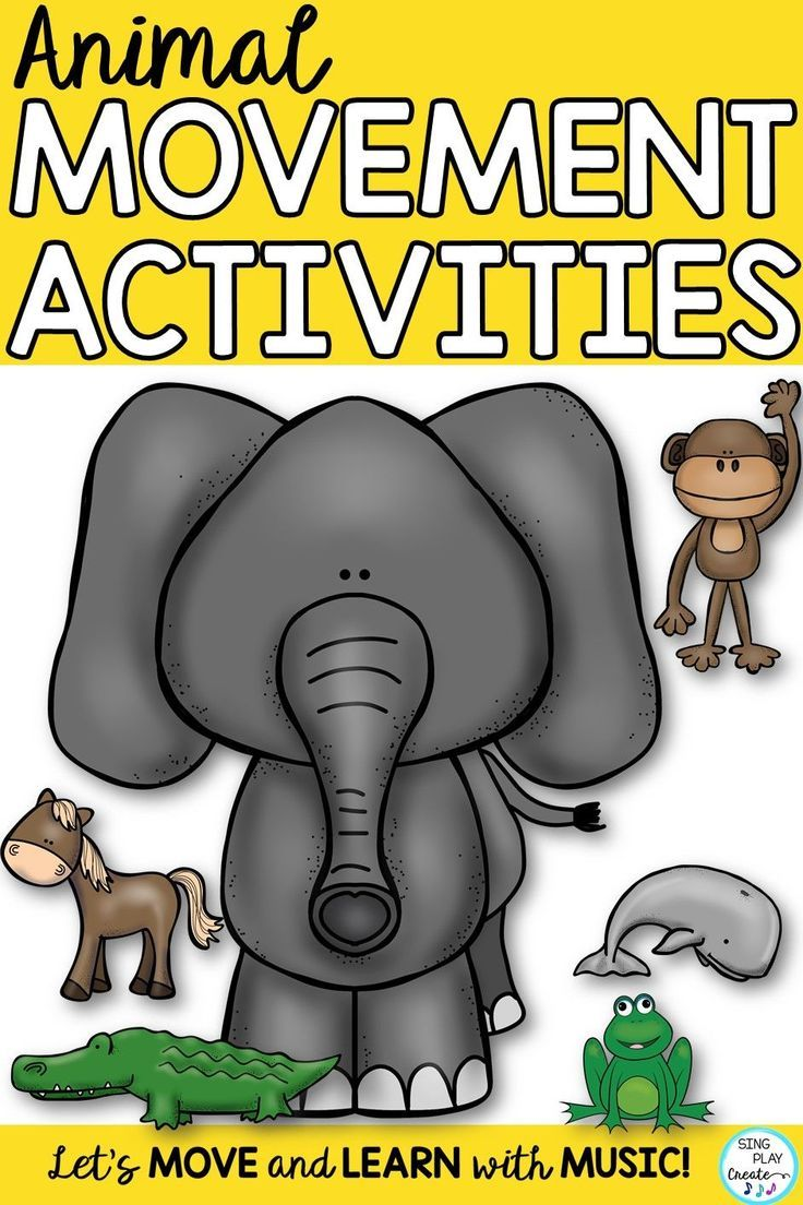 Let's read and move like ANIMALS! Moving and singing along