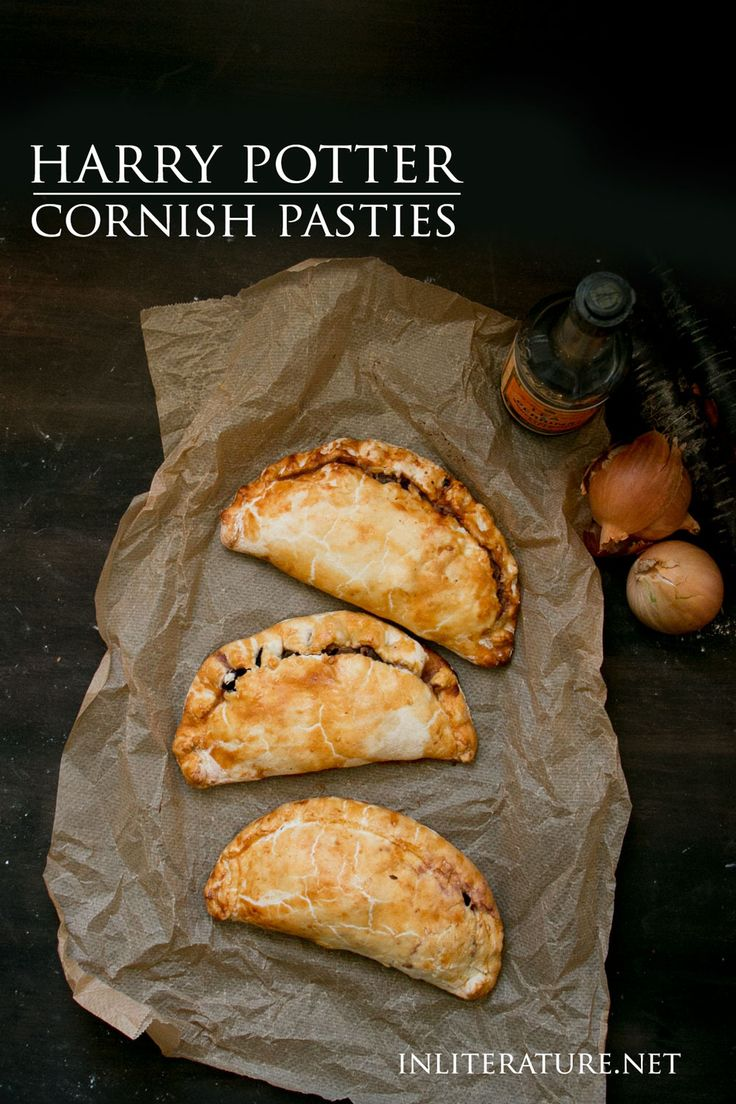 Cornish Pasties are the main meal recipe you need if throwing a Harry Potter party. Make them the day before, chill them quickly in the fridge, then warm them back up in the oven just before you're ready to serve. http://inliterature.net/food-in-literature/2017/06/cornish-pasties-harry-potter.html