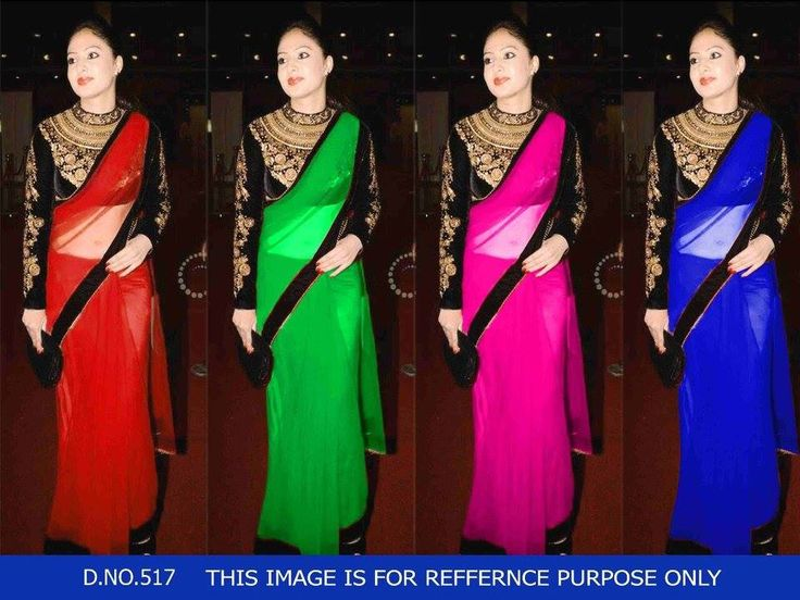 """""""Sarees for 2499/-"""" Pls call/whatsapp +919600639563. Code: saf dvsaree Price: 2499/- Material: Georgette saree with designer blouse. For booking and further details pls call or whatsapp us at +919600639563. Happy shopping y'all :) Be Beautiful :)"""