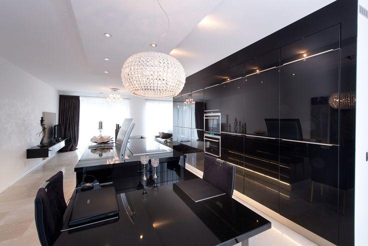 Tieleman keuken model Next125 hoogglans zwart gelakt kopen