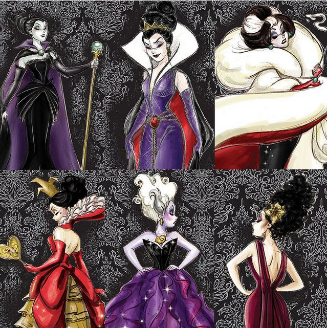disney villians | Disney Villains designer collection!