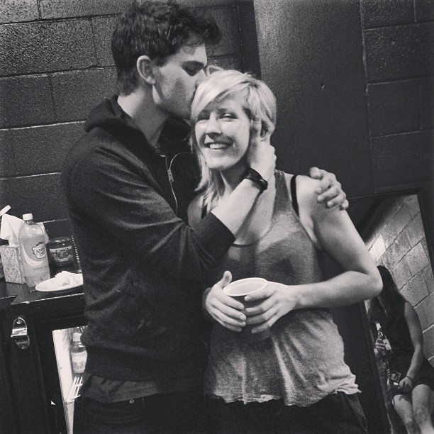 Ellie Goulding & Jeremy Irvine. They are literally SO cute. #FavCouple