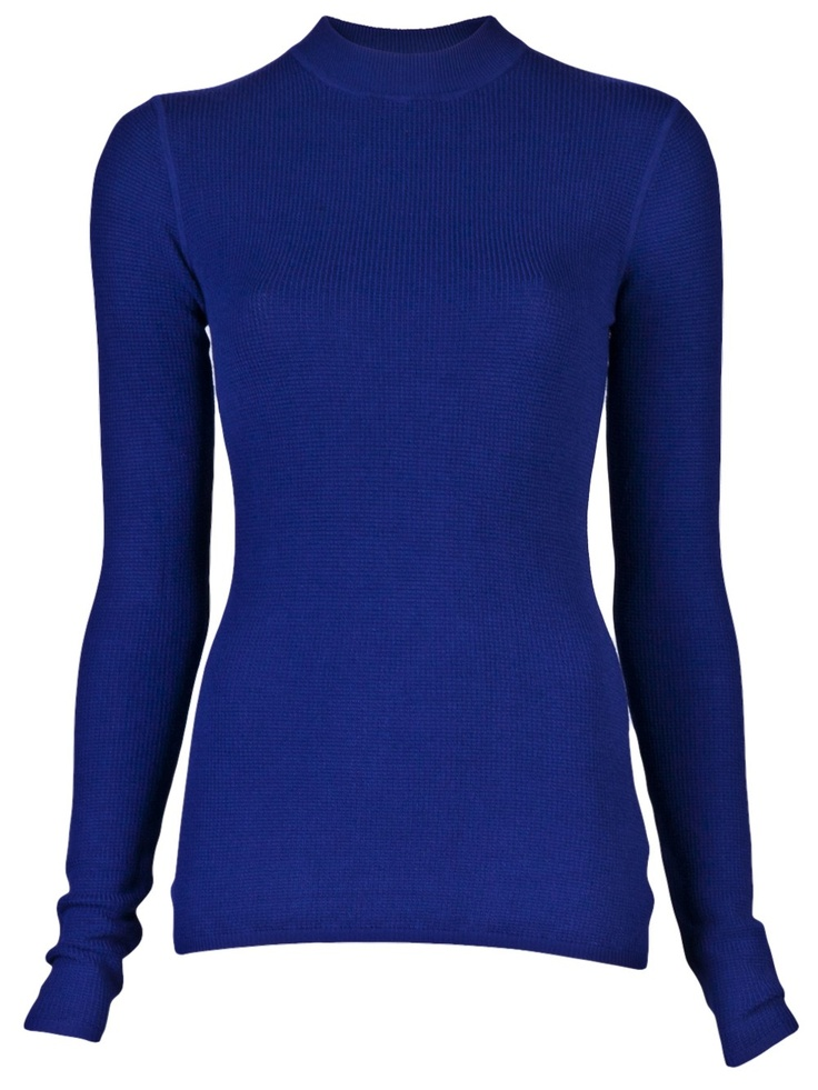 $195 T by Alexander Wang http://roanshop.com/womens-clothing/t-by-alexander-wang-thermal-pullover-indigo.html#