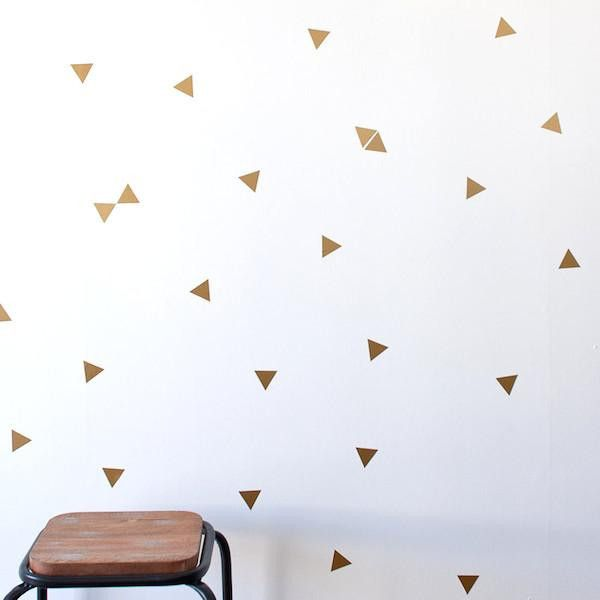For the bathroom - paint walls white & add gold stars