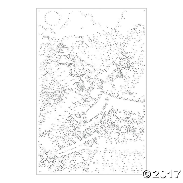 These poster-sized puzzles with over 3,000 dots each have amazing detail and a huge reveal! Each set includes 7 giant posters printed on thick paper, along ...
