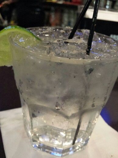 Double Hendricks & Tonic at Funny Bone. Can't forget the pepper!  #funnybone #hendricksntonic #cantforgetthepepper