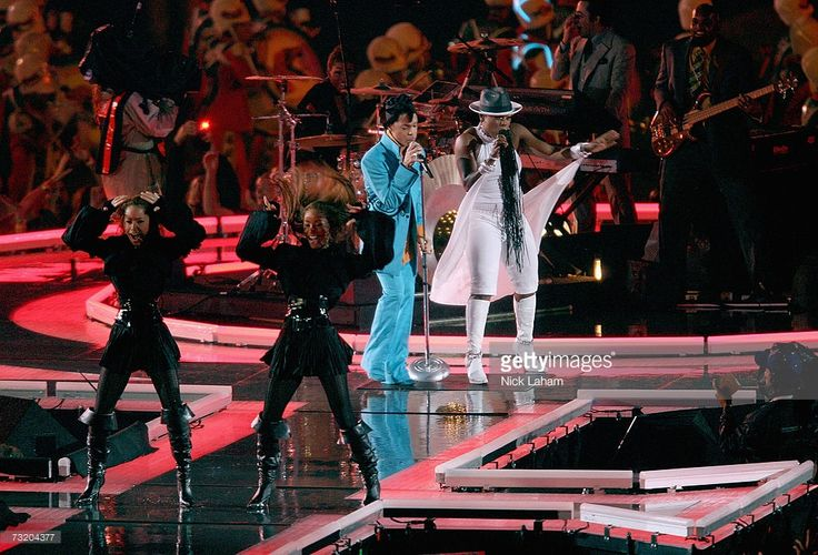 Prince performs during the 'Pepsi Halftime Show' at Super Bowl XLI between the Indianapolis Colts and the Chicago Bears on February 4, 2007 at Dolphin Stadium in Miami Gardens, Florida.