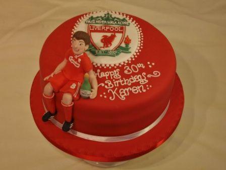 Liverpool Fc Birthday Cake With Steven Gerrard Ideas