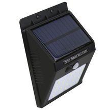 Chine fournisseur nouvelle prime solar power motion sensor solaire led mur extérieur lumière jardin lumière