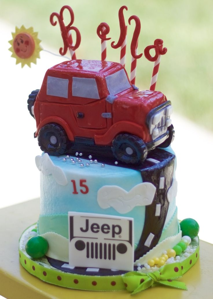 21 best Jeep party images on Pinterest Jeep cake Birthday cakes