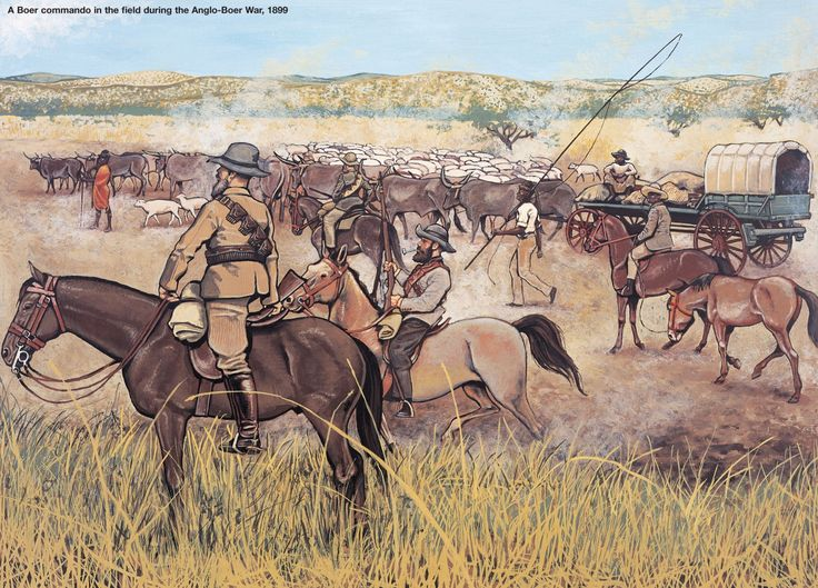 A BOER COMMANDO IN THE FIELD DURING THE ANGLO-BOER WAR, 1899