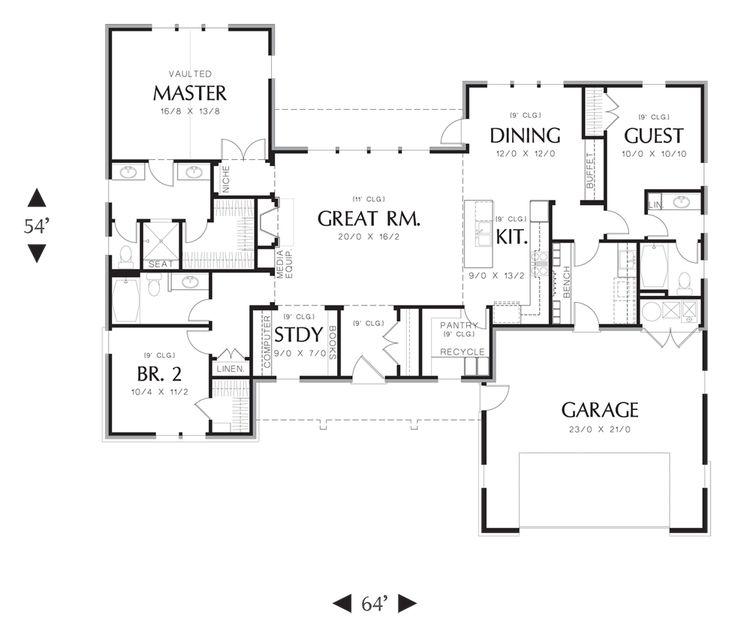 Main Floor Plan Of Mascord 1170