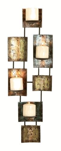 Metal wall art: candles