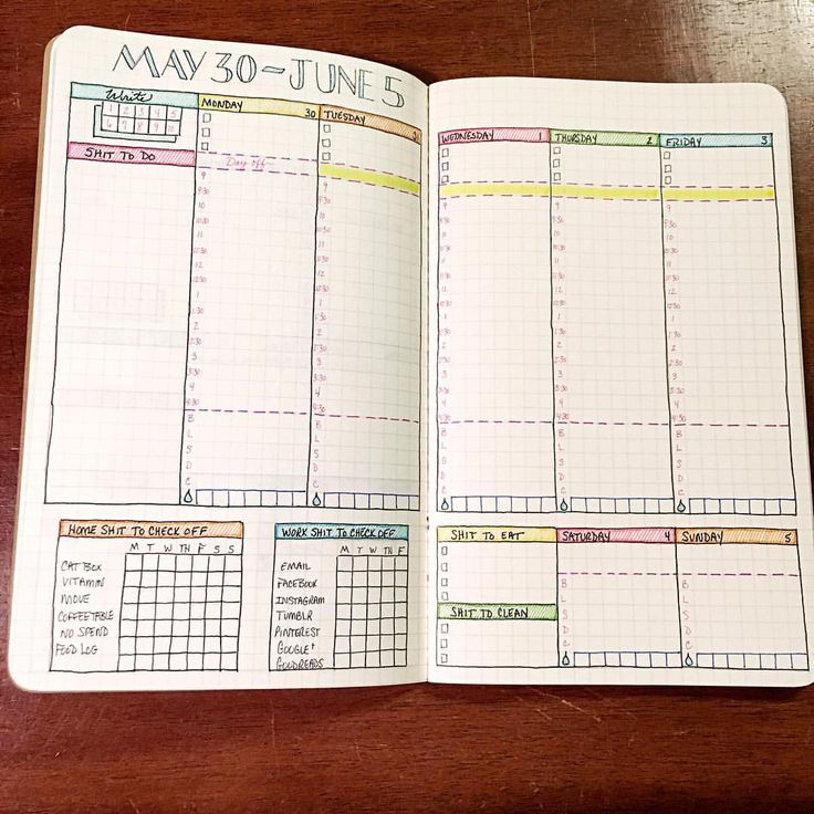 """86 Likes, 8 Comments - Shannon Stacey (@shannonstacey) on Instagram: """"I can't believe it's almost June! A new layout for a new month. #plannernerd #bulletjournal"""""""