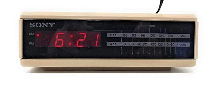 Sony Dream Machine Fm Am Digital Alarm Clock Radio Tan Vintage