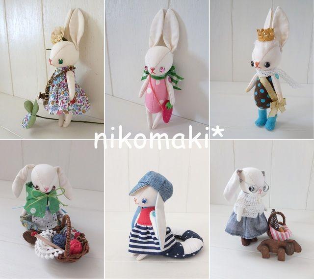 オーダーチビうさぎdoll by nikomaki* ぬいぐるみ・人形 ぬいぐるみ | ハンドメイド、手作り作品の通販・販売サイト minne(ミンネ)
