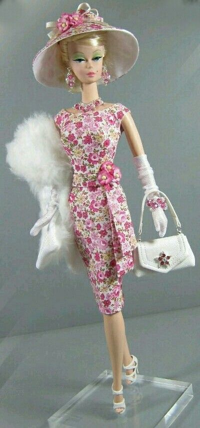 Silkstone BArbie Doll with hat purse