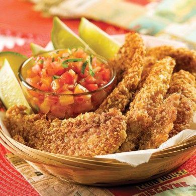 Filets de poulet sans friture - Recettes - Cuisine et nutrition - Pratico Pratique