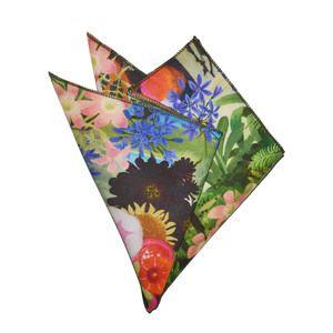 Tropical Blooms Pocket Sqaure