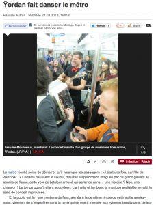 YORDAN : Article dans Le Parisien !   GENTLEMEN talents