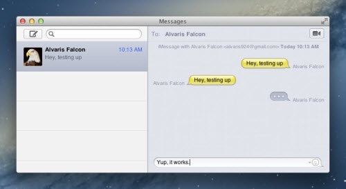 iMessages on a Mac
