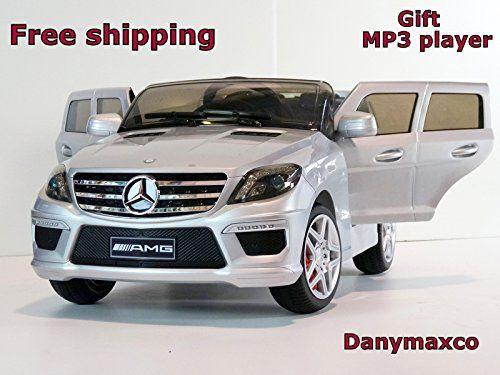 new 2015 licensed mercedes benz ml63 12v kids ride on power wheels battery car silver