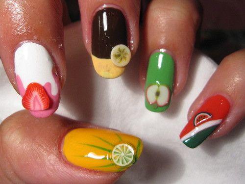 Fruity Fimo nails    See more nail designs at http://www.nailsss.com/nail-styles-2014/