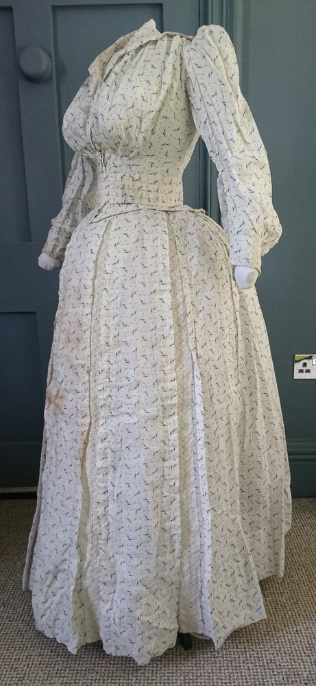 Late 1880s Nautical / Seaside Bustle Dress - Victorian Antique Fashion | Clothes, Shoes & Accessories, Vintage Clothing & Accessories, Women's Vintage Clothing | eBay!