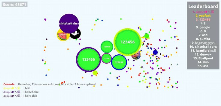 45671 agario game high score 123456 screen shot agarioplay.com - Player: 123456 / Score: 456710 - 123456 saved mass 45671 score game screenshot in user 123456 agario game score screenshot