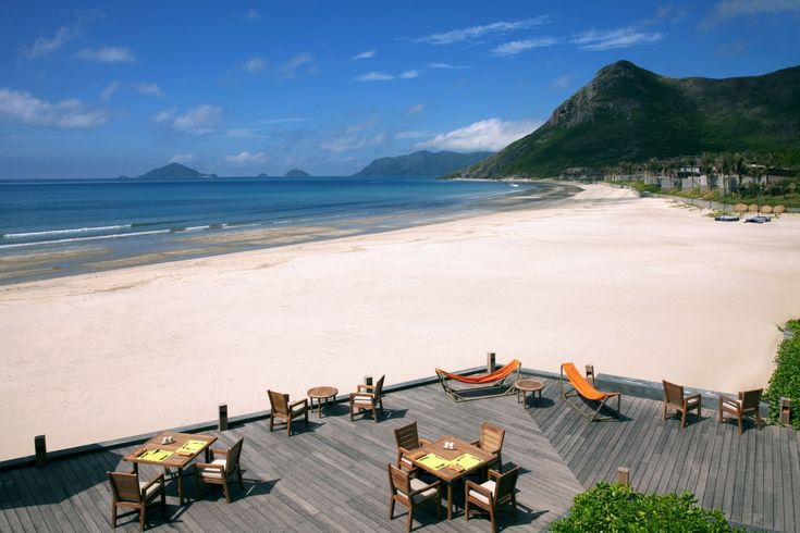 The deck at By the Beach restaurant, Six Senses Con Dao.