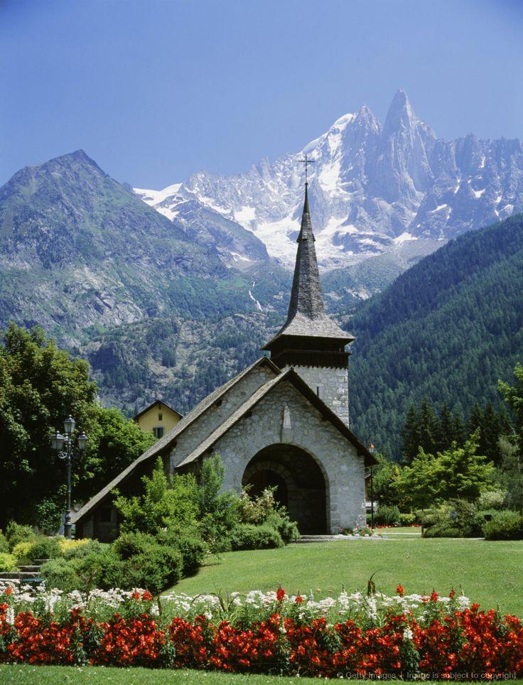 La chapelle des Praz à Chamonix, Alps, France