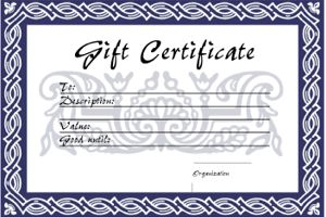 Gift Voucher Templates - free printable gift vouchers