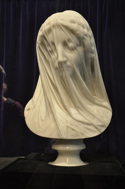 The Veiled Virgin, St. John's Newfoundland. This is amazing to see in person - it is all sculpted from one piece of stone