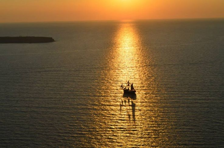 Lovely view of a sunset in Greece (Pic courtesy Prerna Jain)