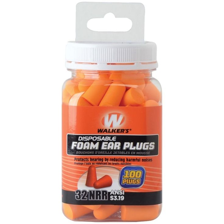 WALKERS GAME GWP-FP-50PK Disposable 32NRR ANSI S3.19 Foam Ear Plugs 100 Count #WALKERSGAMEEAR